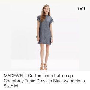 Madewell Chambray Tunic Dress